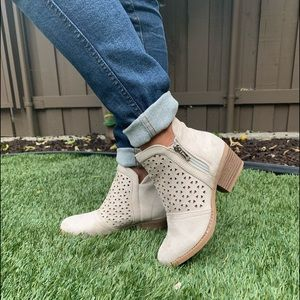Sand Faux Suede Ankle Booties